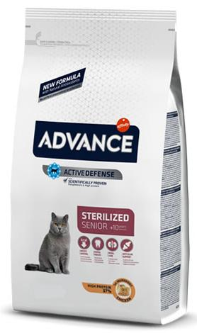 ADVANCE GATO STERILISED SENIOR +10 1.5KG