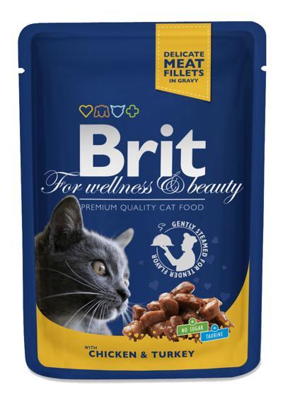 BRIT CAT CHICKEN & TURKEY 100 GR