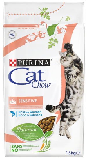 CAT CHOW SENSITIVE SALMÃO 1.5 KG