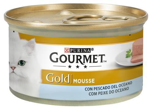 GOURMET GOLD MOUSSE PEIXE DO OCEANO 85GR