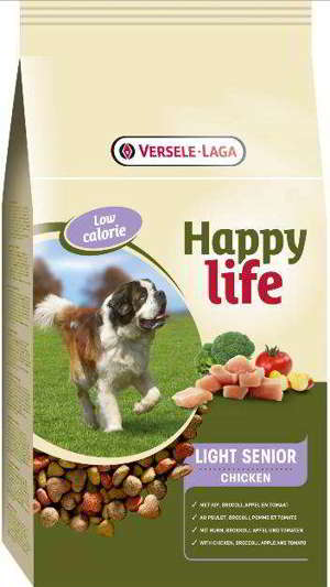 HAPPY LIFE LIGHT SENIOR CHICKEN 15 KG*
