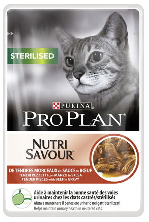 PRO PLAN NUTRISAVOUR STERILISED BEEF 85 GR