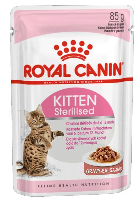 ROYAL CANIN CAT WET KITTEN STERILISED MOLHO 85 GR
