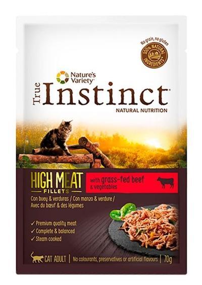 TRUE INSTINCT HIGH MEAT FILETES DE VACA 70 GR