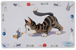 BASE P/ MANGEOIRE/GAMELLE DES CHATS - COMIC CAT