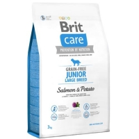 BRIT CARE GRAINFREE JUNIOR LARGE SALMON & POTATO 12 KG