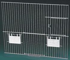 FAÇADE POUR CAGE ET BATTERIE DE CAGE EX ( DEUX PORTES ) 40 X 33 CM