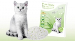 LITTER PURE WHITE SENSITIVE ALOÉ VERA 15L