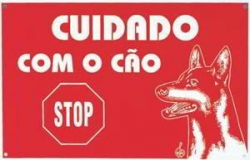 PLACA CUIDADO COM O CAO - STOP