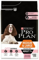 PRO PLAN MEDIUM & LARGE 7+ OPTIDERMA SALMÃO 14 KG