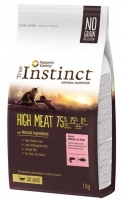 TRUE INSTINCT HIGH MEAT MEDIUM/MAX ADULTO SALMAO